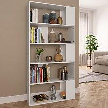 Book Cabinet/Room Divider White 80x24x159 cm