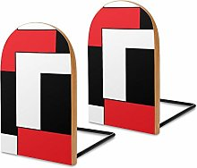 Book Ends,Wooden Bookends for School Library Shelf