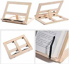 Book Stand Folding Wooden Book Holder Cookbook