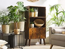 Bookcase Dark Wood Freestanding 2 Open Shelves