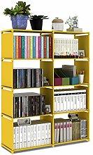 Bookcase Double Row Bookshelf Non-woven Fabric