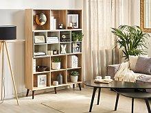 Bookcase Light Wood with Grey 174 x 120 x 30 cm