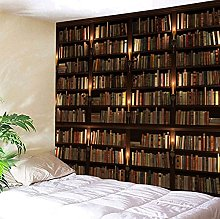 Bookcase Tapestry Bookshelf Wall Hanging