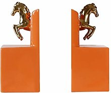 bookend supports Animal Bookends Golden Horse