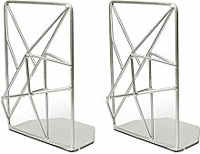 Bookends Geometric Non Slip For Organizing Books