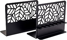 Bookends, Metal Book Ends for Shelves,Heavy Duty