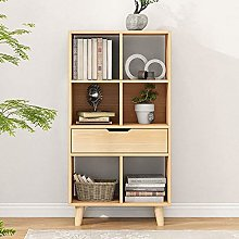 Bookshelf 5-Tier Bookcase With Drawers Multiple