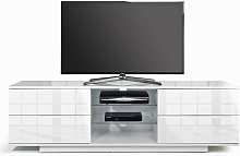 Boone Wooden TV Stand In White High Gloss With