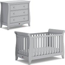Boori Sleigh 2 Piece Nursery Furniture Set - Pebble