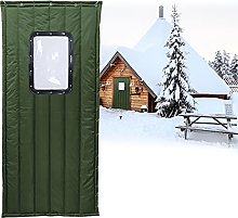 Boracy Home Thermal Insulated Door Curtain, French