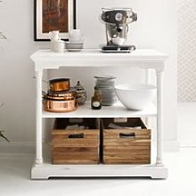 Boraux Wooden Kitchen Table In White With 2 Boxes