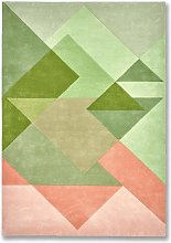 Bordeaux Vert Rug - 170 x 240 cm / Green / Wool