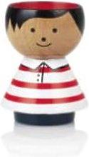 Bordfolk - Beech Wood Red Stripes Boy Egg Cup -