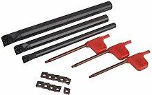 Boring Bar Lathe Tool 10 CCMT0602 Carbide Inserts