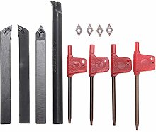 Boring Bar Lathe Tool 4 Pieces of DCMT0702 Carbide