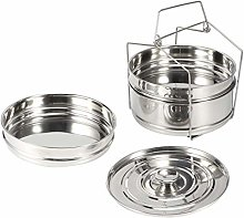 Borlai Stackable 3 Tier Stainless Steel Food