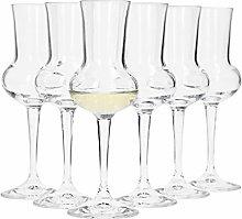 Bormioli Grappa Glass Set of 6 I Capacity 75 ml I