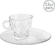 Bormioli Rocco 12 Piece Kaleido Glass Espresso