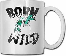 Born-Wild-Dinosaur-Egg-Green Funny Gifts Coffee