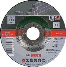 Bosch 5 Piece 115mm Stone Cutting Discs