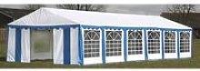 Boscobel 12m x 6m Steel Party Tent by Blue -