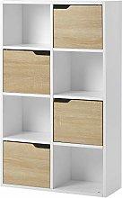 Bosixty Bookcase Display Storage Rack, White