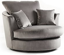 Bost Swivel Tub Chair Canora Grey Upholstery