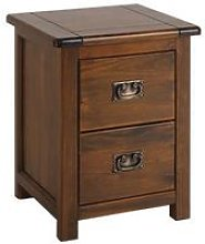 Boston 2 Drawer Bedside Cabinet
