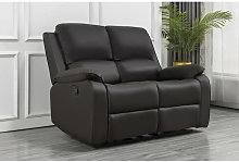 Boston 2 seater recliner loveseat leather sofa in