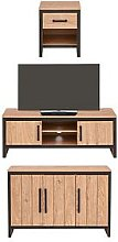 Boston 3 Piece Package - Tv Unit, Sideboard And