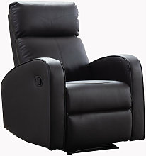 Boston Brown Leather 1 Seater Recliner Sofa