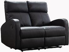 Boston Brown Leather 2 Seater Recliner Sofa