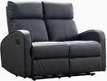Boston Grey Leather 2 Seater Recliner Sofa