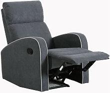 Boston Slate Grey Fabric 1 Seater Recliner Sofa