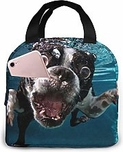 Boston Terrier Underwater Dog Lunch Bags Insulated