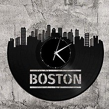 Boston Vinyl Clock Gift for Travelers and Friends