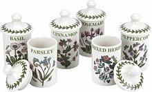 Botanic Garden 6 Piece Spice Jar Set Portmeirion