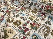 Botanic Garden Cotton Linen Blend Fabric Natural