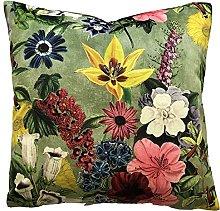 Botanical Exotic Plants Spring Bloom Velvet Fabric