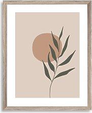Botanical Leaf Scandi Framed Print, 57 x 47cm,