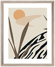 Botanical Scandi Framed Print, 57 x 47cm, Brown