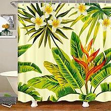 Botanical Shower Curtain Green Leaf Tropical