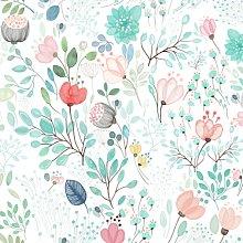 Botanical Tale Floral - Wallpaper Sample