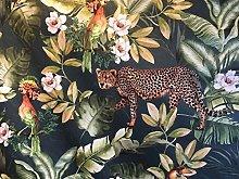 Botanical Tropical Jungle Green Italian Velvet