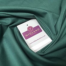 Bottle Green 9 Plain Polyester Cotton Fabric -