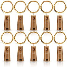 Bottle Lights with Cork 10 Pack, Fulighture Copper