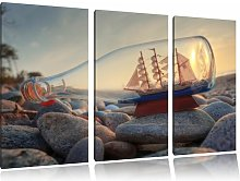 Bottle with Ship 3 Piece Photographic Print on