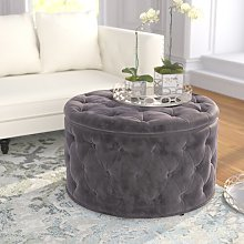 Bouchard Cocktail Ottoman Canora Grey Upholstery