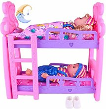 Bouder Toys Doll Bunk Bed, Bunk Bed for Dolls, for