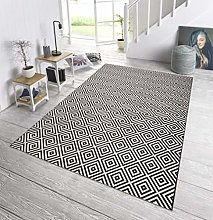 bougari Indoor and Outdoor Rug Checked Black 80 x